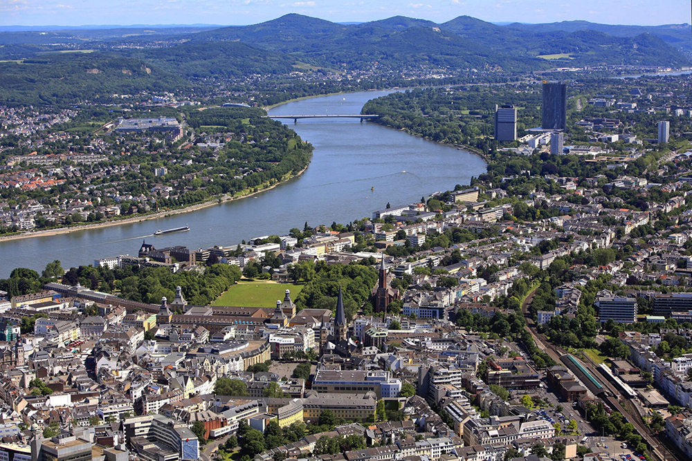 View of Bonn, Germany from above